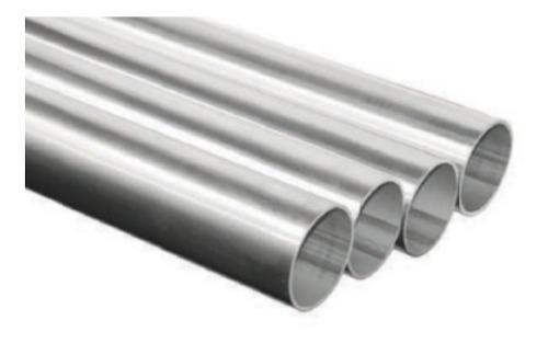 Tubo cortinero redondo de aluminio 1 pulgada x 6,10 mts.