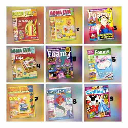 33 revistas con moldes foami (digitales en pdf