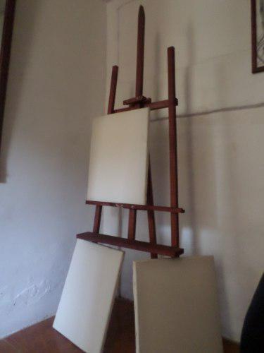 Usado, CABALLETE DE MADERA PARA PINTAR Ó COLOCAR PIZARRA +3 segunda mano  Sucre-Sucre (Sucre)