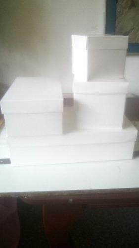Cajas cartón hechas a la medida 6 pzas-