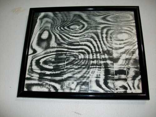 Foto impresión enmarcada obra arte 1965 firmada j.m.cruxent