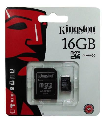 Memoria micro sd hc kingston 16gb clase 4 original sellado