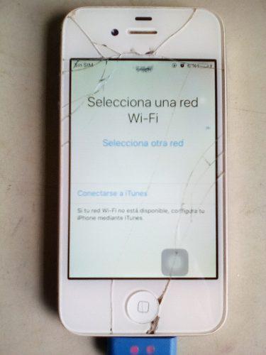 Telefono iphone 4s usado bloqueado por icloud