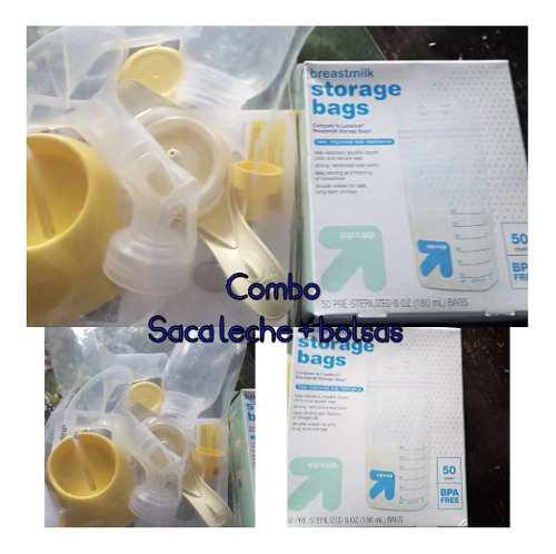 Combo saca leche + caja de 50 bolsas