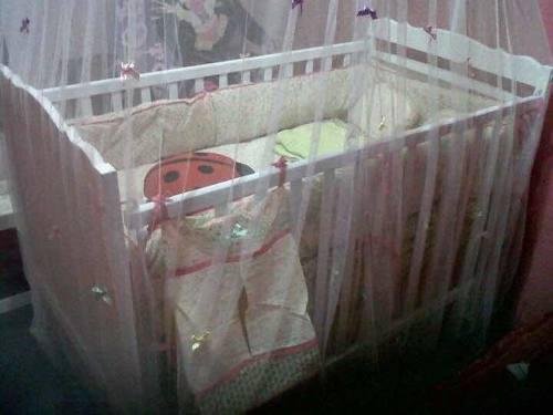 Cuna, colchón y mosquitero