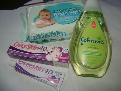 Overskin al 40% + shampoo johnsons bebé de 400ml + toallas
