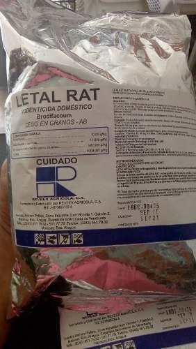Rodenticida, mata rata, letal rat x kg