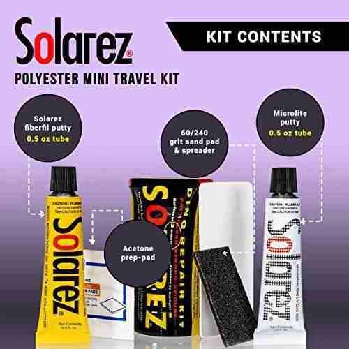 Solarez mini kit repara cion tablero surf secado uv