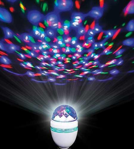 Bombillo led multicolor giratorio discoteca fiesta x2!