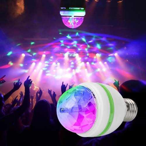 Bombillo multicolor giratorio led giratorio luces, fiesta