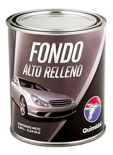 Fondo automotriz gris alto relleno acrilico quimidal galon