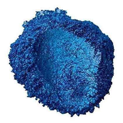 Pigmento perlado azul marino resina epoxica y pinturas