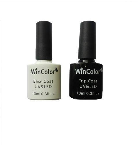 Pinturas de uñas semi permanentes (base y sellador)
