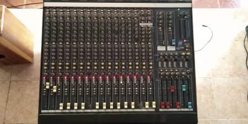 Vendo consola hallen heath gl2000 16 canales audio das qsc