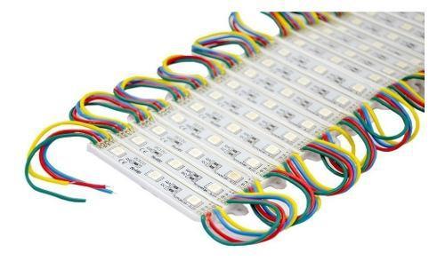 40 modulos led smd 5050 cubierta de silicon multicolor rgb