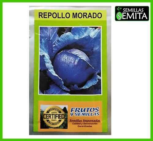 7 sobres de semillas de repollo morado 5 gramos importadas