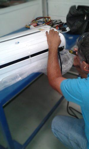 Instalación básica aire acondicionado split 18.000btu