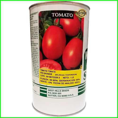 Semillas de tomate rio grande lata de libra importadas