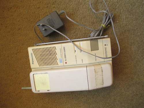 Teléfono panasonic inalámbrico antiguo colección o