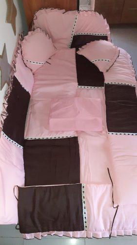 Edredon y protector de cuna, para niña (8) piezas