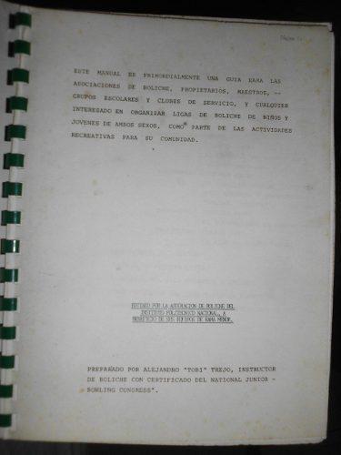 Manual iniciación al bowling para coleccionar año 1980