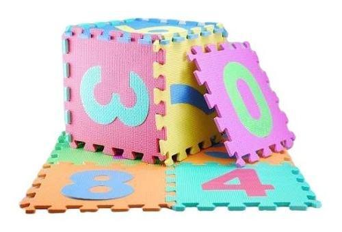 Alfombra de foami para bebes 10 piezas grandes 29x29 c/u