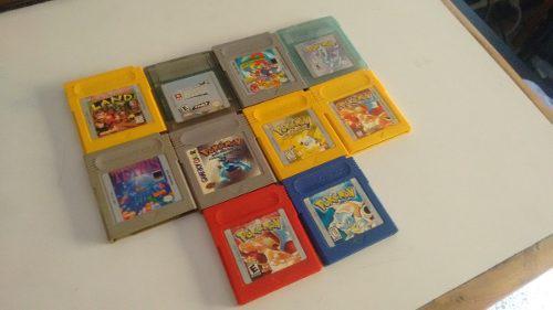 Gameboy color + juegos (pokemon, mario land, tetris, dk)