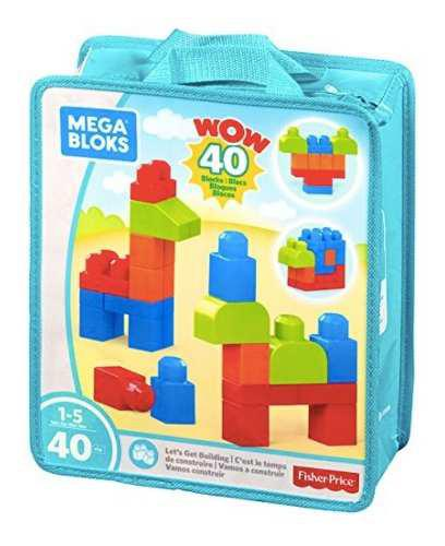 Mega blocks 40pc juguete bebe fisher price original