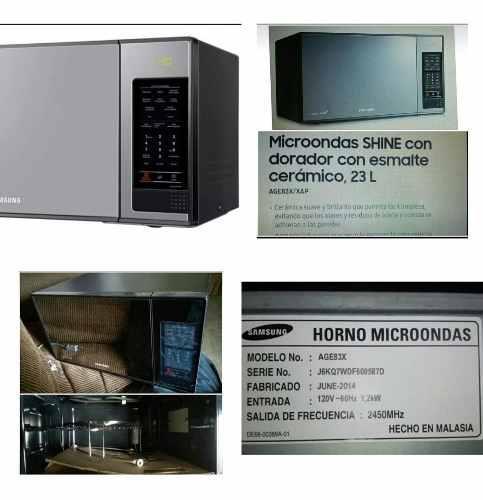 Microondas samsung shine tipo espejo de lujo, dorador 23l