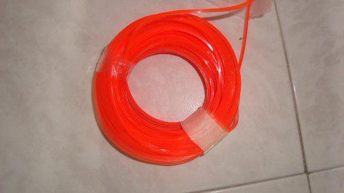 Naylon para desmalezadora cuatro puntas 3.3 mm venta por mt