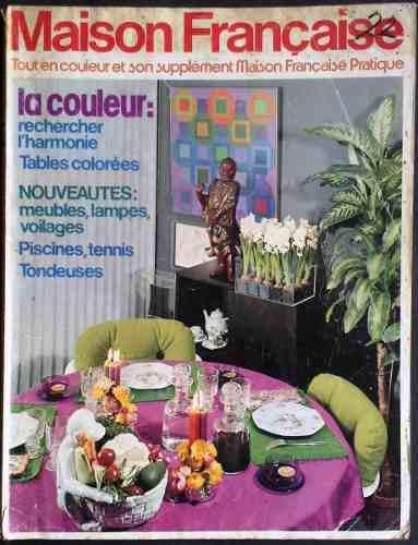 Coleccionable Revista Vintage Maison Francaise Abril 1975