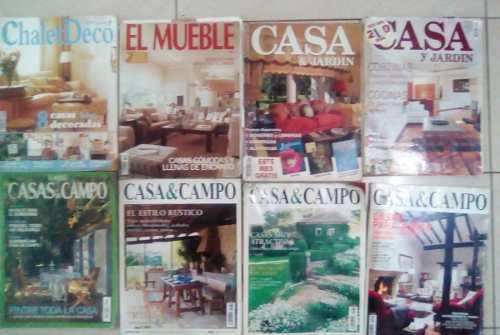 Combo de 8 revistas casa y campos, casa y jardin y otras