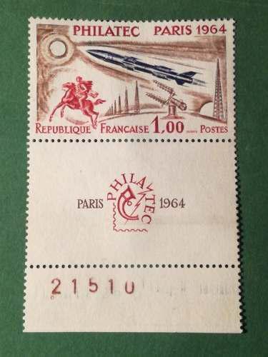 Estampillas francia. serie: philatec exhibition paris. 1964.