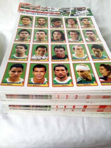 Panini lote copa america 2007 hoja equipo mexico & venezuela