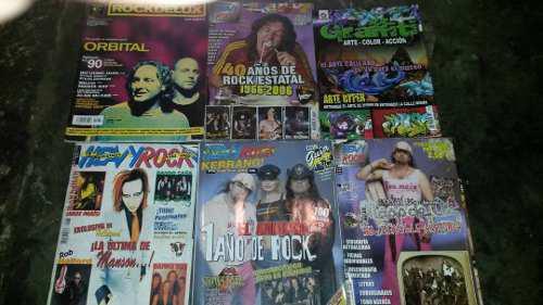 Remato 6 revistas de roc y metal y 4 afiches, 3 verdes, leer