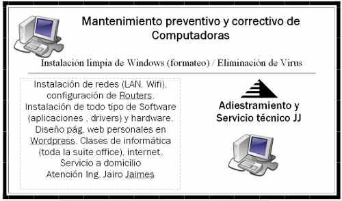 Mantenimiento de pcs a domicilio, software sis 2018