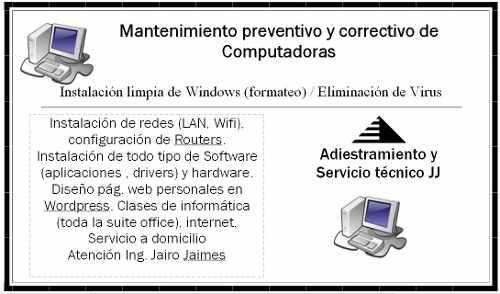 Mantenimiento de pcs a domicilio, software sis 2018