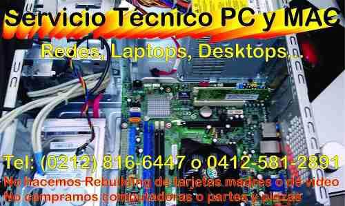 Servicio técnico computadoras y laptop, redes