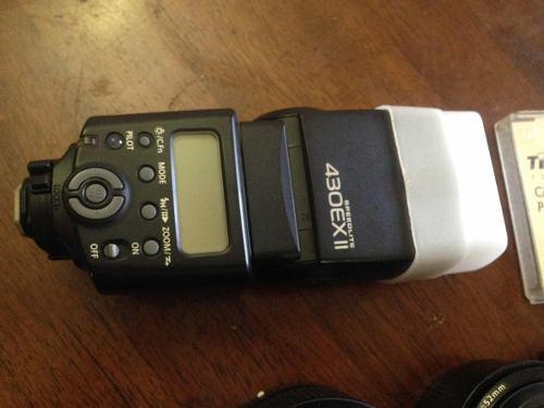 Flash canon 430 exii con difusor adicional