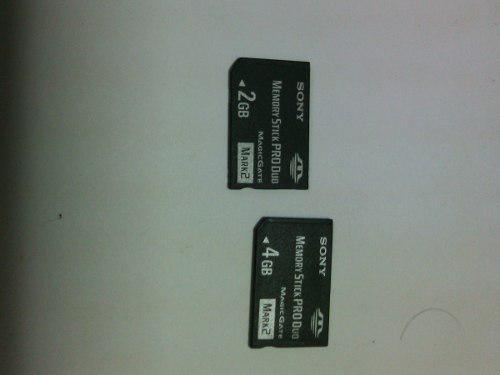 Memoria produo 2gb y 4gb sony 2x1 (10vs).