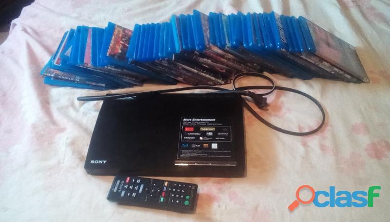 Blueray sony con varias peliculas y cable hdmi