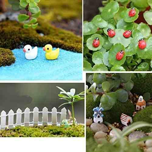 50 pcs miniatura ornamento hada diy kit 4 artificial