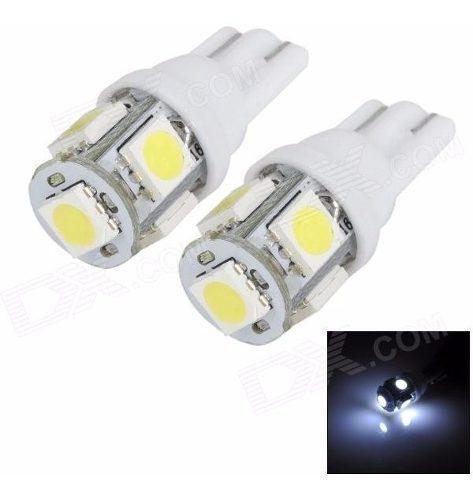 Bombillo led muelita t10 luz blanca 5 led alto brillo 4und