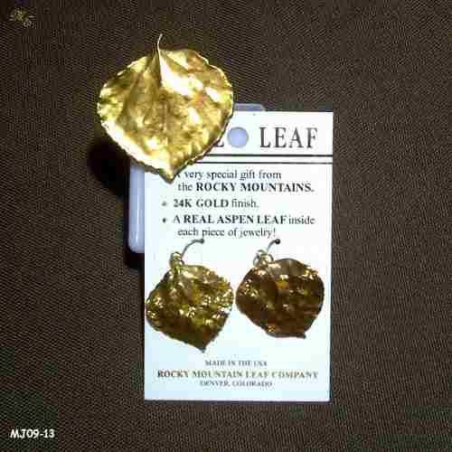 Juego de hojas con baño de oro 24k