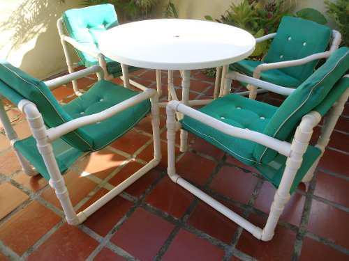 Juego de muebles comedor de 4 sillas jardin o terraza