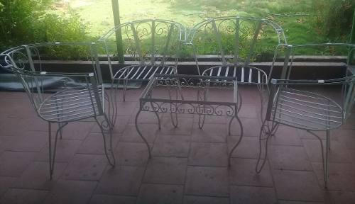 Juego sillas de hiero para jardín