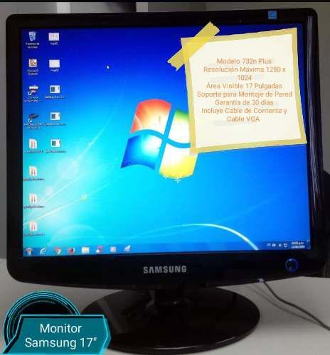 Monitor samsung 732n 17 pulgadas lcd garantía 30 verdes