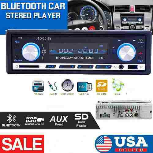Radio reproductor de musica mp3 bluetooth p/vehiculos 35vrds
