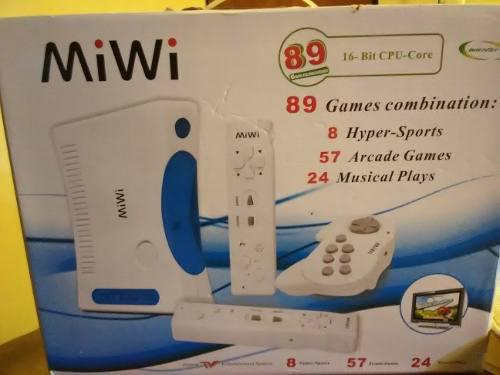 Consola 89 Juegos Miwi Usada