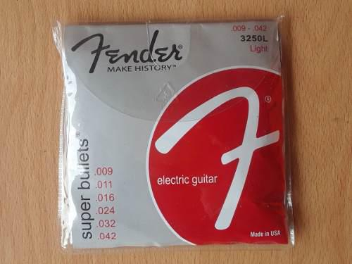 Cuerdas fender light 009 para guitarra eléctrica